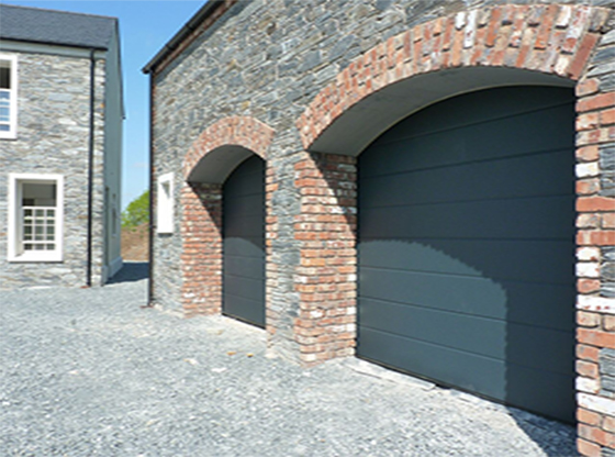 Anthracite Wide Ribbed Insulated Sectional Garage Door