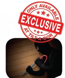 Burglar resistant hardware