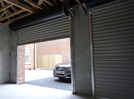 Inside of  a rollover garage door