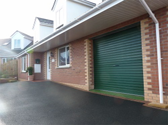 Juniper Green Roller Garage Door