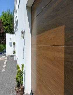Kingspan insulated sectional garage door Flat Woodgrain Smooth Kingschester
