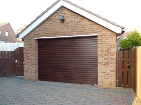 Mahogany Roller Garage Door