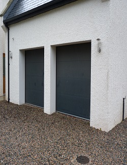 ThermAdor Residential insulated door by TiltAdor Flat Deep Matt Smooth Anthracite RAL 7016