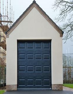 ThermAdor insulated sectional door Georgian Woodgrain Embossed Black RAL 9005