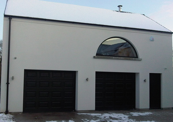 Kingspan Black Georgian ThermAdor sectional garage door