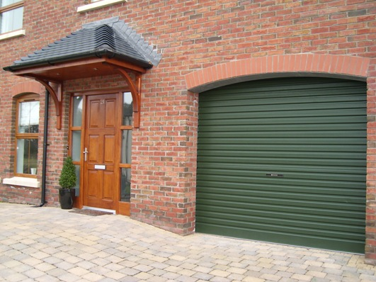 Juniper green roller door
