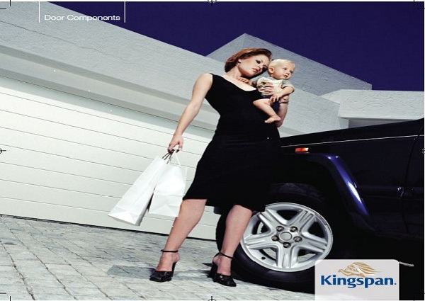 Kingspan White Wide Ribbed ThermAdor sectional garage door