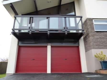 Burgundy Red roller garage doors