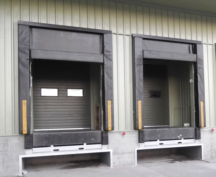 Loading bay doors for meat factory