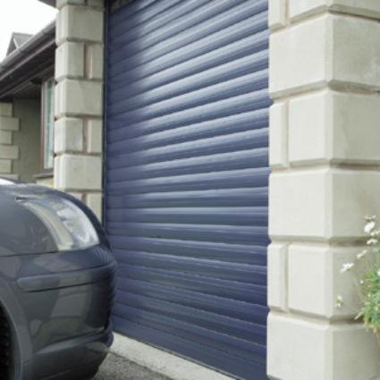 Seceuroglide insulated roller door blue