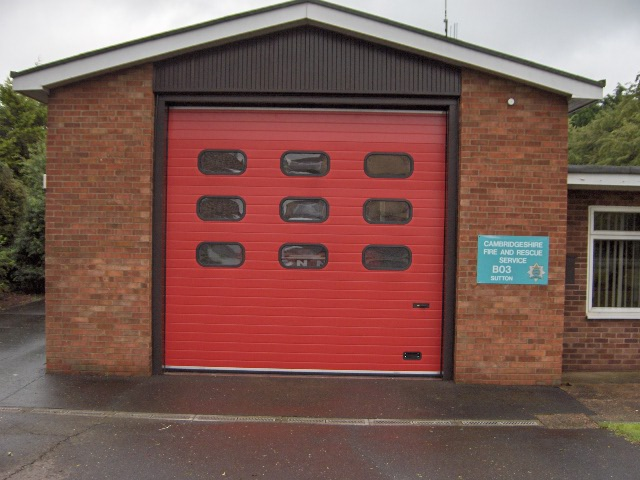 ThermAdor Industrial red with windows Cambridgeshire Fire Station