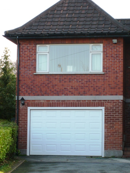 White Georgian ThermAdor insulated sectional door